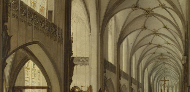 Hendrik van Steenwyck the Younger, The Interior of a Gothic Church looking East, 1604-1615 (part.)