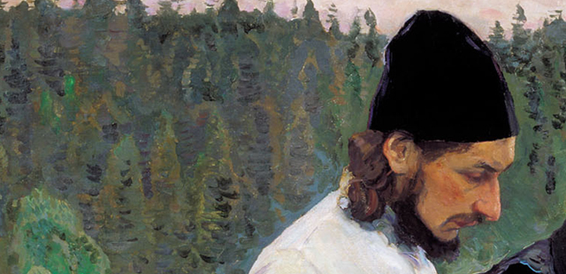 M. Nesterov, Filosofi (Florenskij e Bulgakov), 1917 (part.)