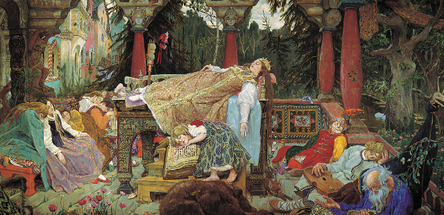 Viktor Michajlovič Vasnecov - La principessa addormentata1833